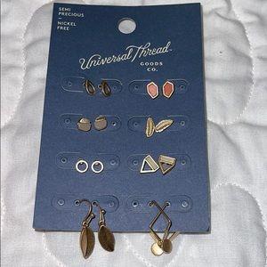 Universal Thread Semi precious earrings 8 …